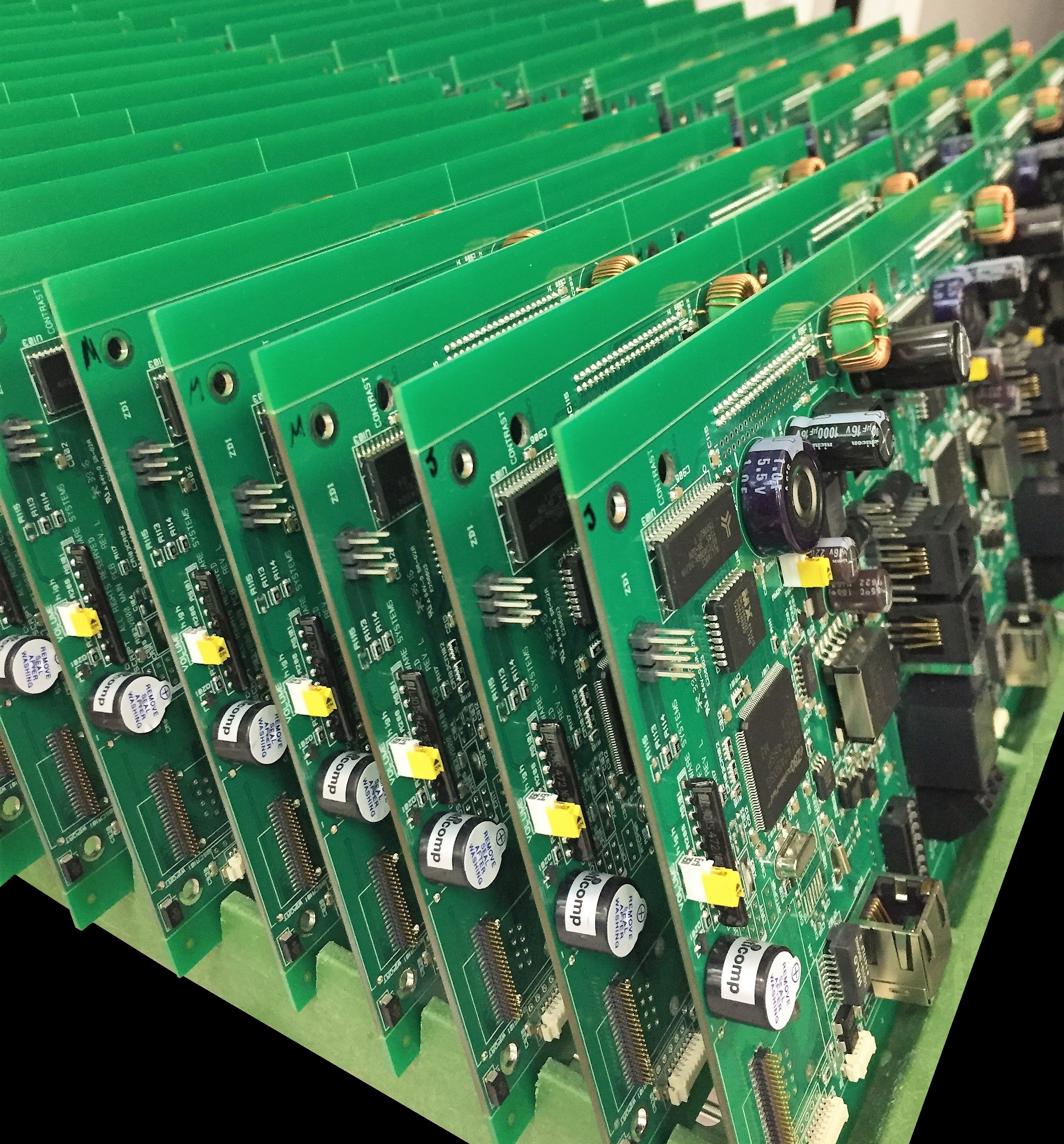 row of pcb's